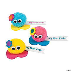 """My Mom Rocks"" Pom-Pom Critter Craft Kit"