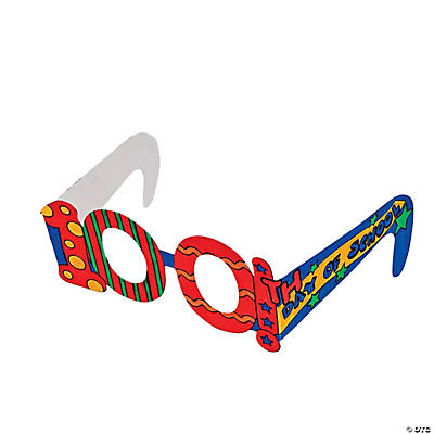 Color Your Own 100th Day of School Glasses