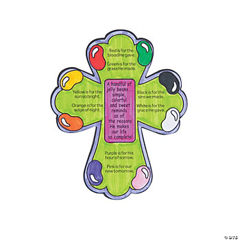 Color Your Own Jelly Bean Prayer Magnet Craft Kit