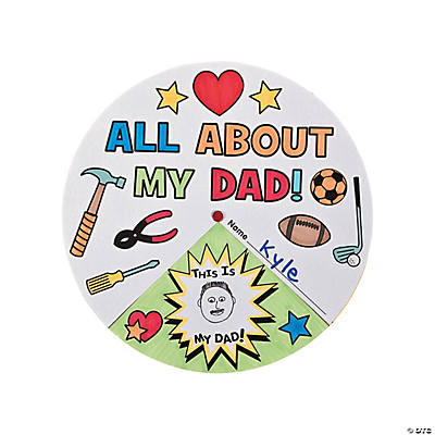 "Color Your Own ""All About My Dad"" Wheels"