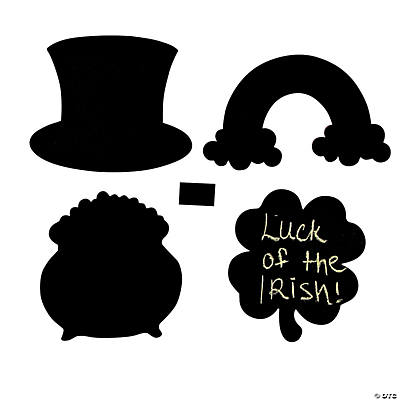 St. Patrick's Day Chalkboard Shapes