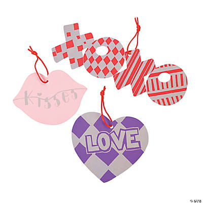 Colored Magic Color Scratch Valentine Ornaments