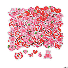 Valentine Self-Adhesive Shaped Stickers