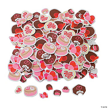 Valentine Chocolate Self-Adhesive Shapes