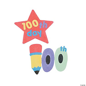 """100th Day Of School"" Sand Art Magnet Craft Kit"