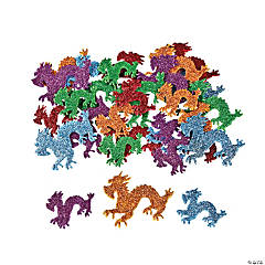 Chinese New Year Glitter Dragon Foam Shapes