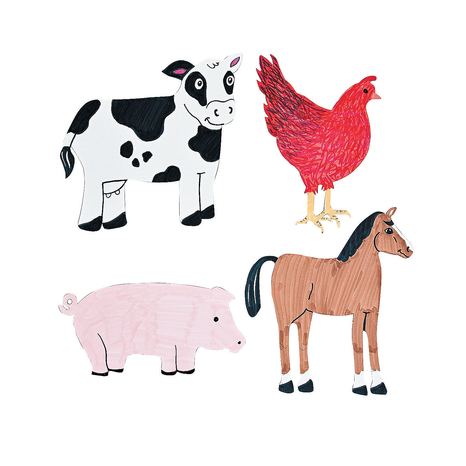 Diy Farm Animal Cutouts Oriental Trading Discontinued
