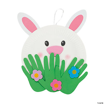 Paper Plate Peeking Bunny Craft Kit