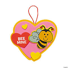 """Bee Mine"" Valentine Ornament Craft Kit"