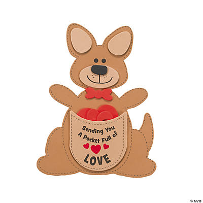 """Pocket Full of Love"" Kangaroo Valentine Craft Kit"