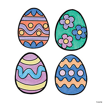 Color Your Own Easter Egg Magnets