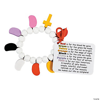 Jelly Bean Prayer Bracelet Craft Kit