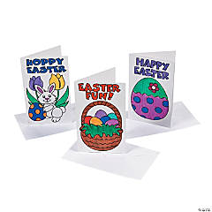 Color Your Own Easter Cards