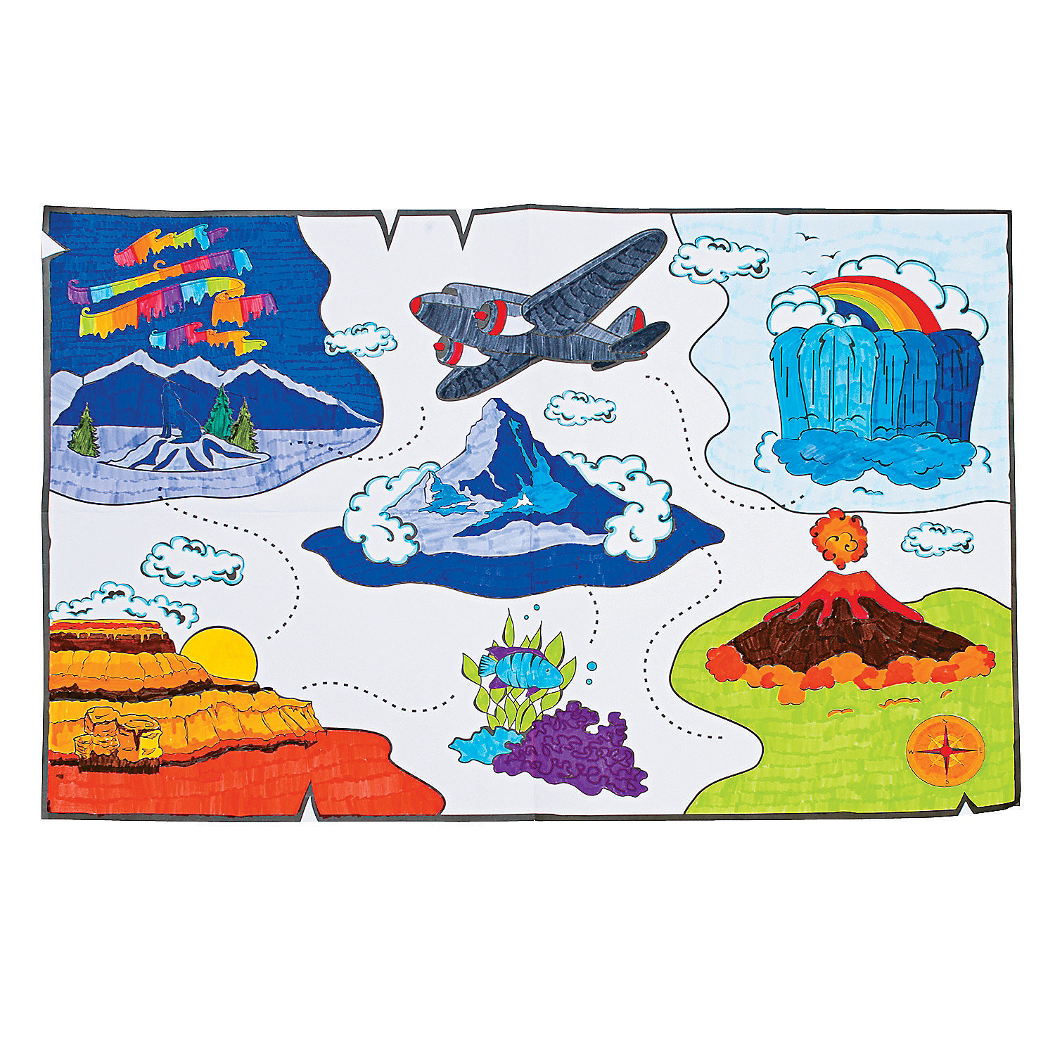 Color your own awesome adventure classroom mural for Classroom mural