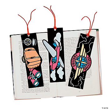 Color Your Own Awesome Adventure Fuzzy Bookmarks