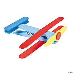 Clothespin Airplane Craft Kit