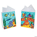 Color Your Own Tropical Fish Bags