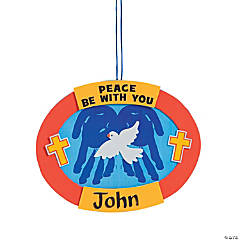 """Peace Be With You"" Handprint Sign Craft Kit"