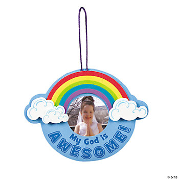"""My God Is Awesome!"" Photo Frame Ornament Craft Kit"