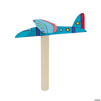 Flying airplane craft kit oriental trading discontinued for Craft kits for preschoolers