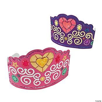 Color Your Own Fuzzy Tiaras