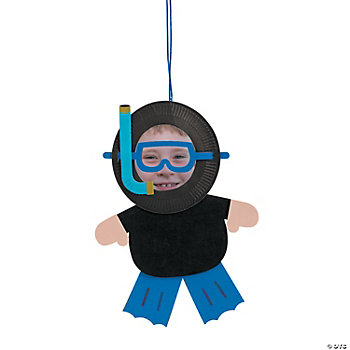 Paper Plate Scuba Diver Photo Frame Craft Kit