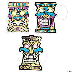 Color Your Own Tiki Masks