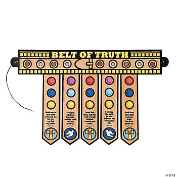 Color Your Own Armor Of God Belt Oriental Trading