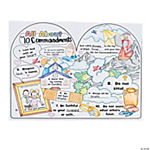 "Color Your Own ""All About the 10 Commandments"" Posters"