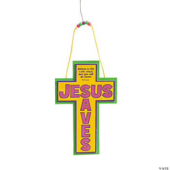 """Jesus Saves"" Cross Craft Kit"