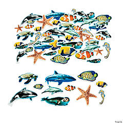 Realistic Ocean Animal Self-Adhesive Shapes