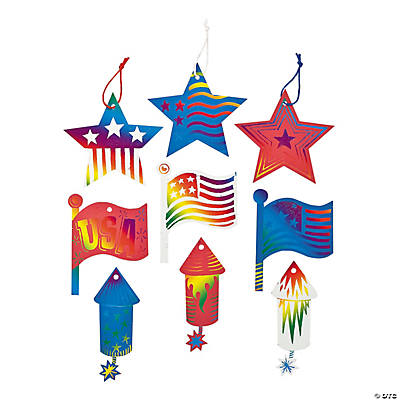 4th of July Magic Color Scratch Ornaments