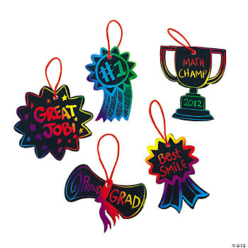 Magic Color Scratch Award Ornaments