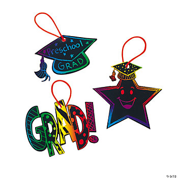 Magic Color Scratch Elementary Graduation Ornaments