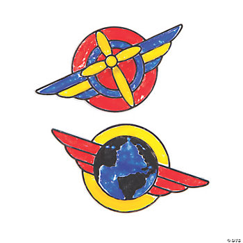 Awesome Adventure Sun Catcher Pilot Badge Pins