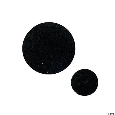 Self-Adhesive Black Felt Rounds