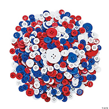 Patriotic Bag Of Buttons