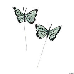 Silver Feather Butterflies