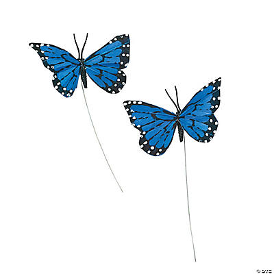 Blue Feather Butterflies