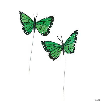 Green Feather Butterflies