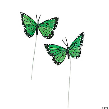 Green Feather Butterflies