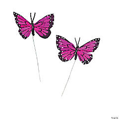 Purple Feather Butterflies