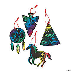 Magic Color Scratch Native American Ornaments