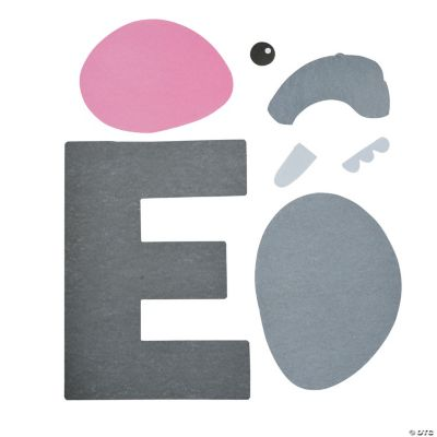 ... letter e craft kit in 48 8066 e is for elephant letter e craft kit use