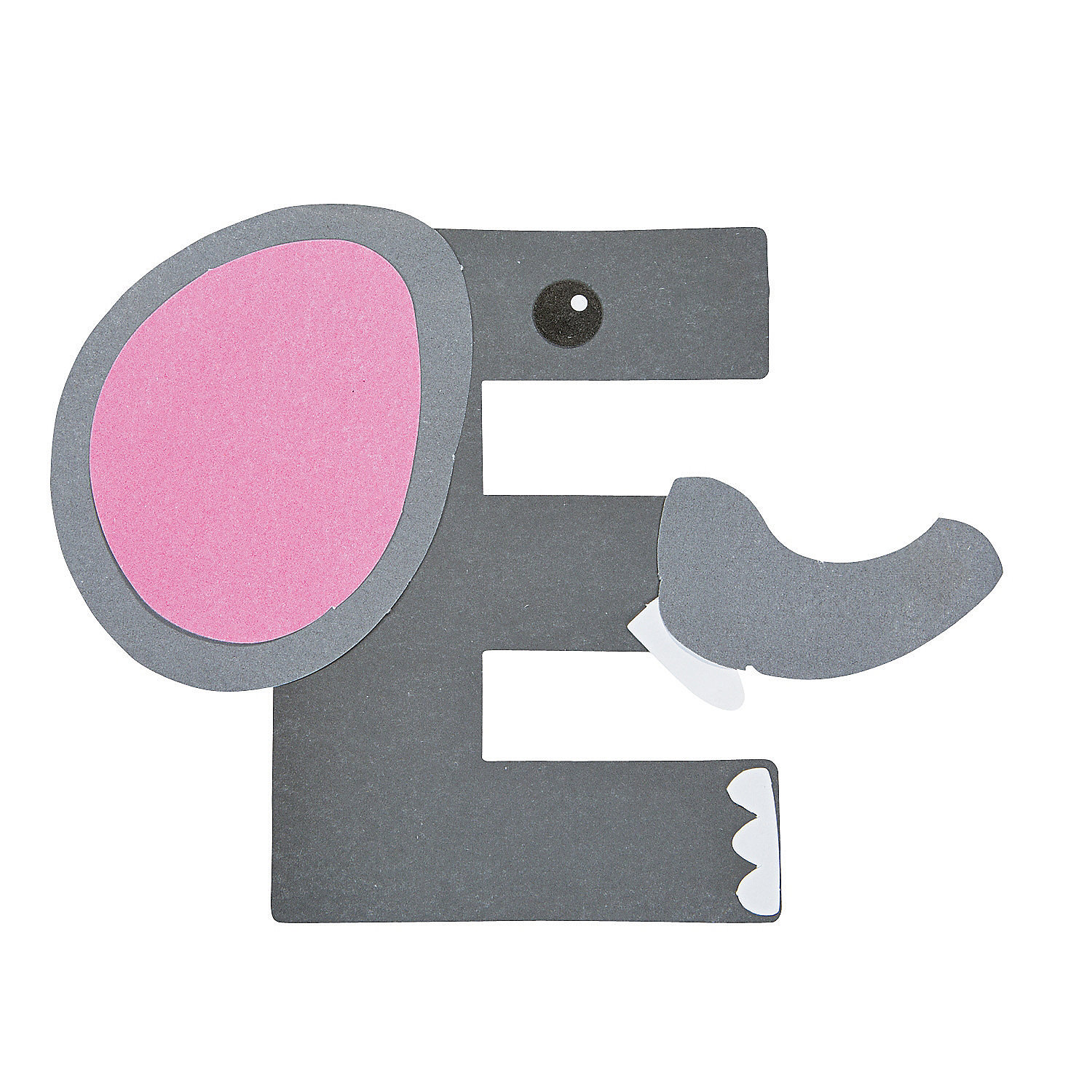E is for elephant letter e craft kit oriental trading for E crafts for preschoolers