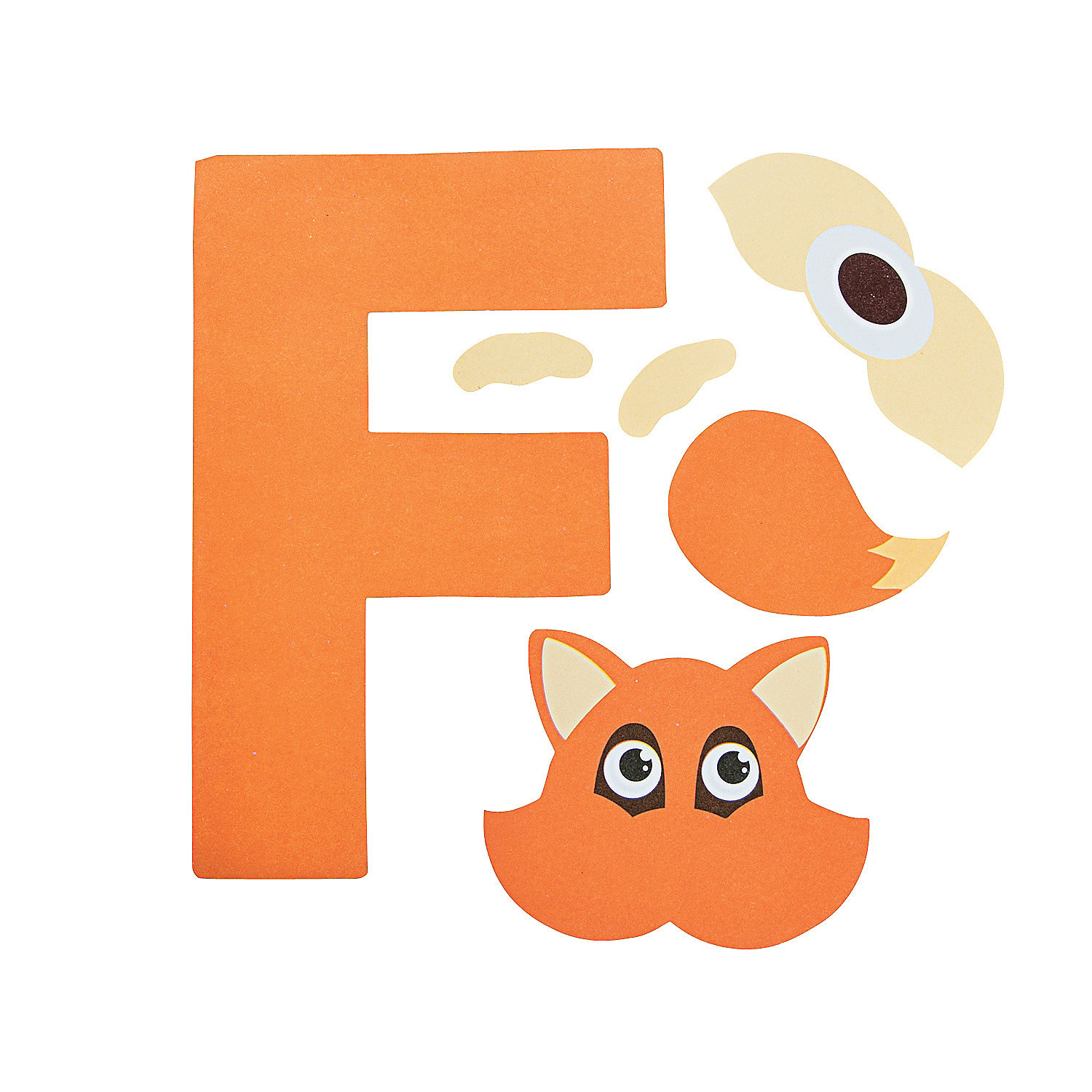 is for fox letter f craft kit in 48 8067 f is for fox letter f craft ...