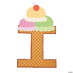 """I Is For Ice Cream"" Letter I Craft Kit"
