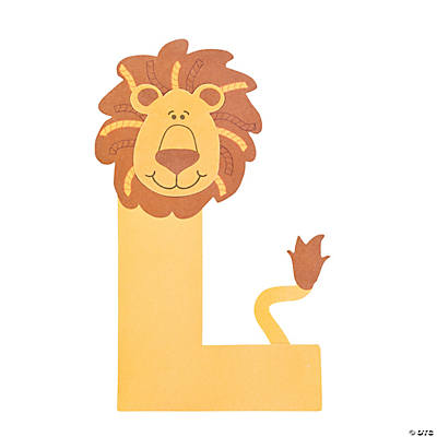 l is for lions letter l craft kit   oriental trading