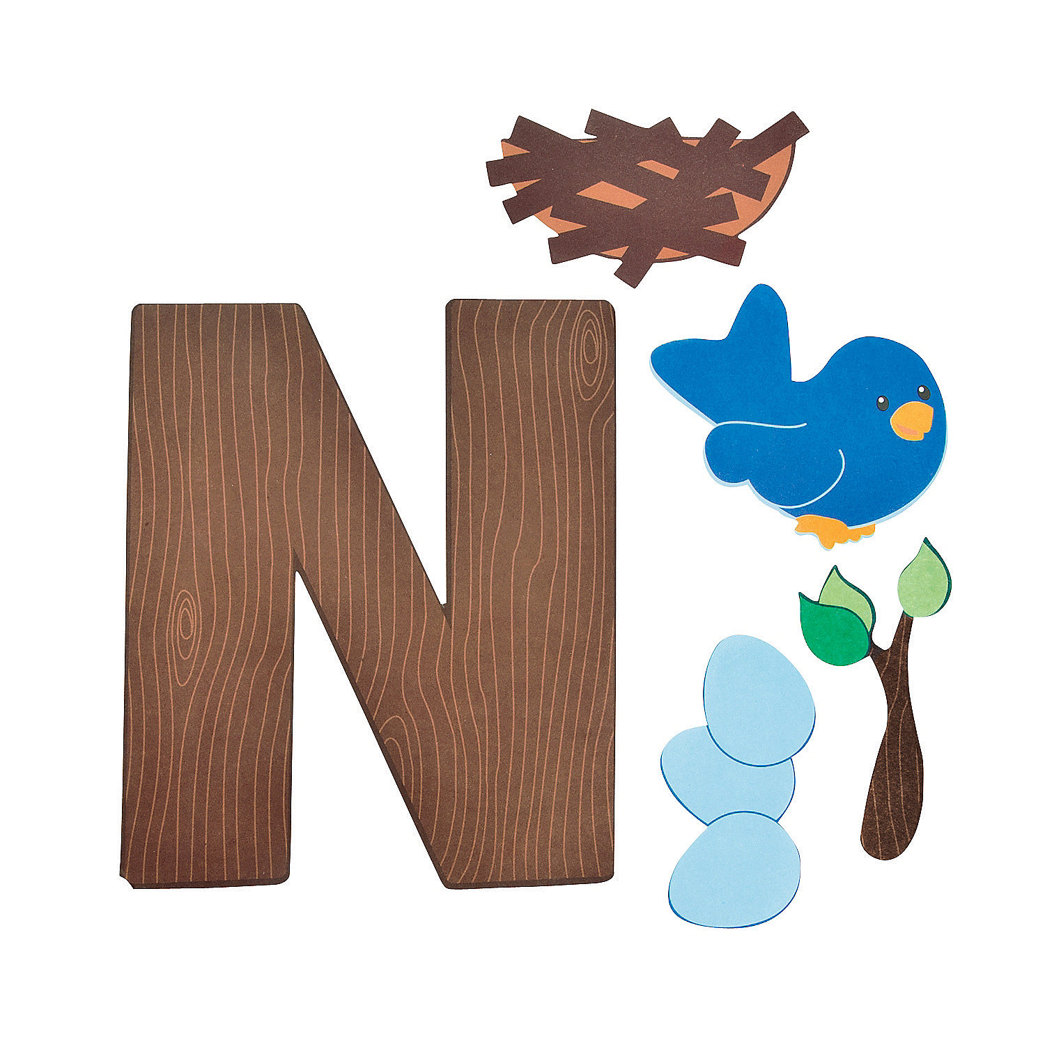 n is for nests letter n craft kit   oriental trading