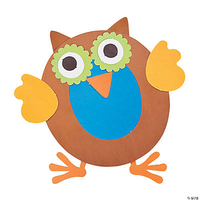 """O Is For Owls"" Letter O Craft Kit"